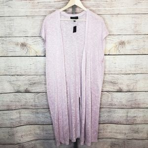 Lane Bryant Light Pink Hacci Duster NWT